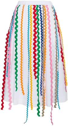 Mira Mikati Cotton midi skirt with ribbon detail