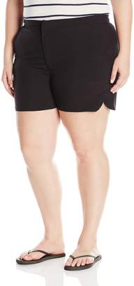 Christina Women's Plus Size Solid Tactel Boardshort