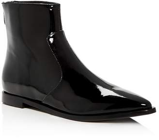 Sigerson Morrison Women's Eranthe Patent Leather Pointed Toe Booties