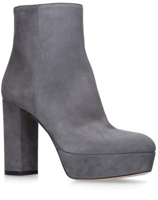 Gianvito Rossi Suede Foley Boots 100
