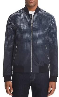 Michael Kors Ombré Grid-Print Bomber Jacket