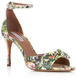 Tabitha Simmons Women's Mimmi Floral Print Leather High-Heel Sandals