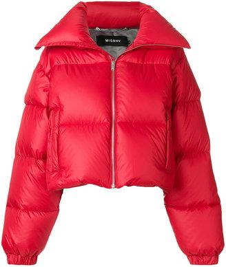 photo patch puffer jacket