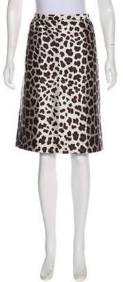 Marc Jacobs Printed Silk-Blend Skirt