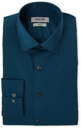 Kenneth Cole Reaction Blue Emerald Slim Fit Stretch Dress Shirt