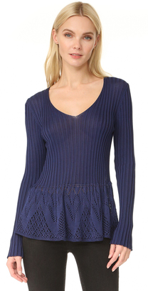 Fuzzi V Neck Sweater $360 thestylecure.com