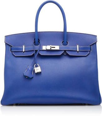 Hermes Vintage by Heritage Auctions 35cm Blue Electric Epsom Leather Candy Birkin