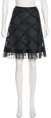 Chanel Lace Knee-Length Skirt