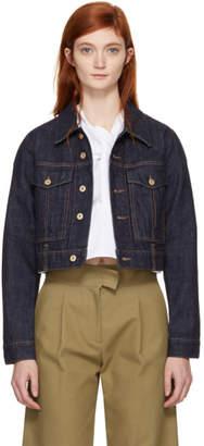 Carven Indigo Denim Boxy Jacket