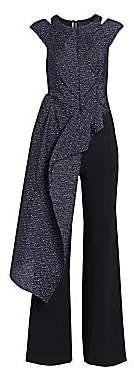 Roland Mouret Women's Maynard Jacquard Asymmetric Peplum Hem Jumpsuit