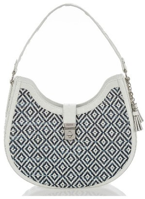 Brahmin Bethany Denim & Leather Hobo - Blue $365 thestylecure.com