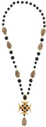 Dolce & Gabbana beaded long cross necklace