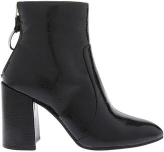 Miss Shop Presley Black Crinkle Patent Boot