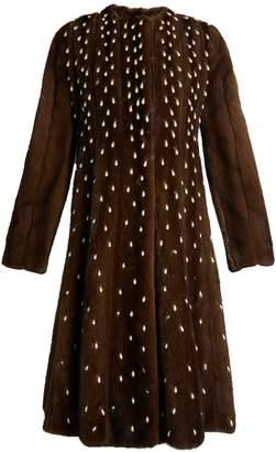 Altuzarra Belloza faux pearl-embellished mink-fur coat