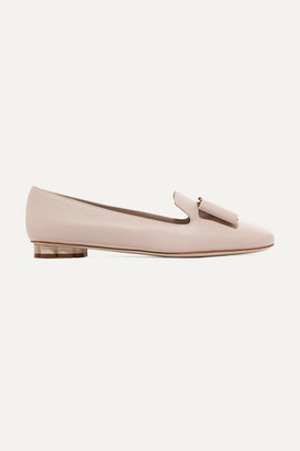 Salvatore Ferragamo Sarno Bow-embellished Leather Loafers
