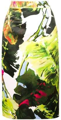 Blugirl leaf print pencil skirt
