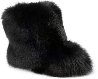 Jimmy Choo Dalton black fox fur boot