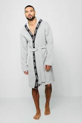 e1796aecb84e at boohoo · boohoo Jersey Fleece Hooded Robe With MAN Taping