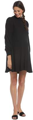 Maternity Luxe Rib Genevieve Dress - Black,