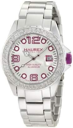 Haurex Italy Women's XK374DWP Ink Stones Aluminum Crystal Purple Date Watch