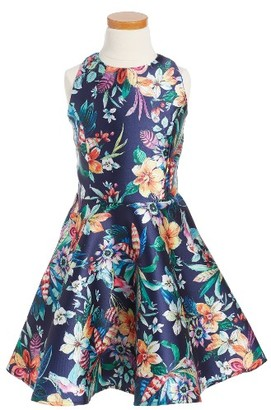 Girl's Un Deux Trois Floral Party Dress $96 thestylecure.com