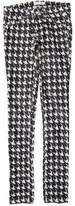 Etoile Isabel Marant Houndstooth Print Low-Rise Pants
