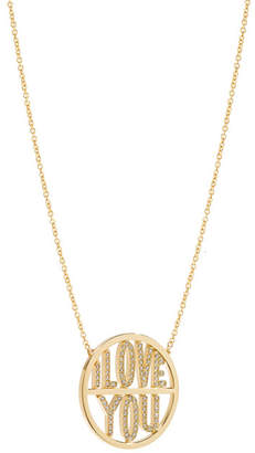 Jennifer Meyer I Love You Disc Necklace
