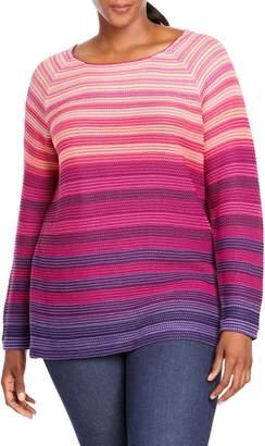 Foxcroft Tilda Texture Stripe Sweater