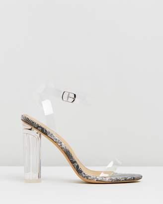 Spurr Cinder Perspex Heels