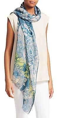 Loro Piana Women's Printed Cashmere & Silk Scarf