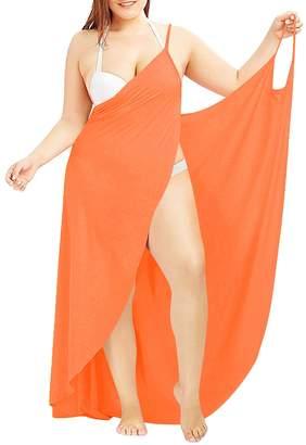 Fancy Clothing Plus Size Sexy Women Spaghetti Strap Cover up Beach Backless Wrap Long Dress (3XL, )