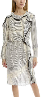 3.1 Phillip Lim Print Silk Ruffle Dress