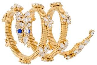 Giuseppe Zanotti Design embellished spiral bracelet
