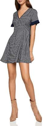 BCBGeneration Plaid Fit-and-Flare Dress