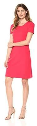 Lark & Ro Women's Short-Sleeve Fit & Flare Dress