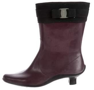 Salvatore Ferragamo Vara Rain Boots