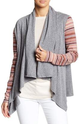Threads 4 Thought Stripe Sleeve Cardigan