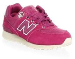 New Balance Girl's Leather& Suede Sneakers