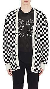Amiri Men's Checkered Cashmere Oversized Cardigan - White