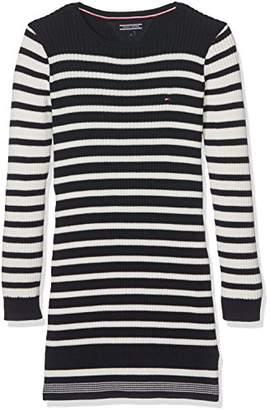 Tommy Hilfiger Girl's Ame Stripe Sweater L/S Dress,(Manufacturer size: 4)