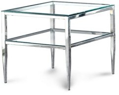 Furniture of America Sparling Contemporary Glass End Table, Multiple Colors