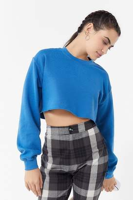 Project Social T Crew-Neck Cropped Sweatshirt