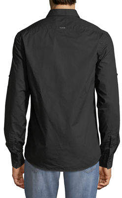 Antony Morato Men's Embroidered-Chest Button-Front Sport Shirt