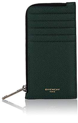 Givenchy Men's Eros Leather Zip Card Case - Blue