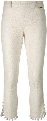 Twin-Set pom pom cropped trousers $173.65 thestylecure.com