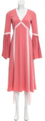 Prabal Gurung Midi Pleated Dress