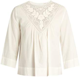 Masscob Lace-trimmed cotton top