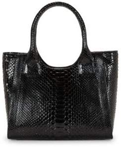 Nancy Gonzalez Python Leather Tote