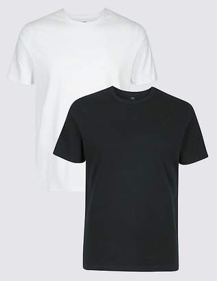 Marks and Spencer 2 Pack Slim Fit Crew Neck T-Shirts