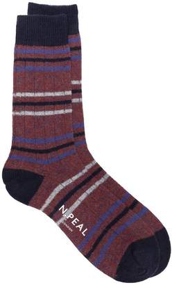 N.Peal striped long socks